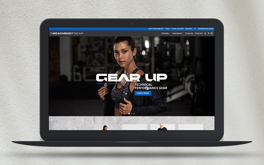 Beachbody Gear Website Design