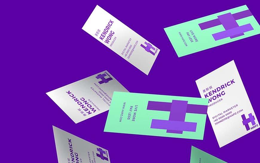 Hapz Branding and Namecard