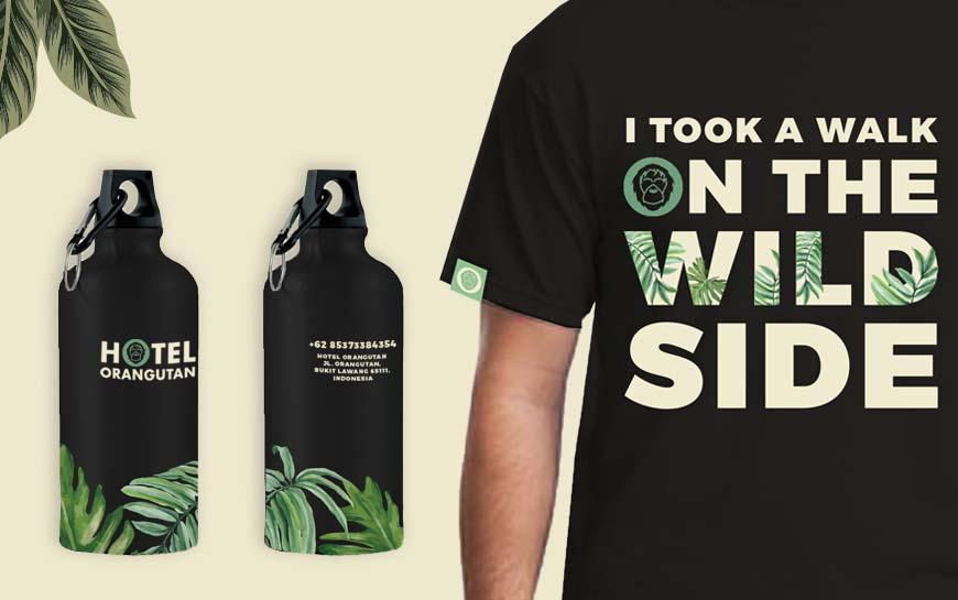Hotel Orangutan T-shirt Bottles