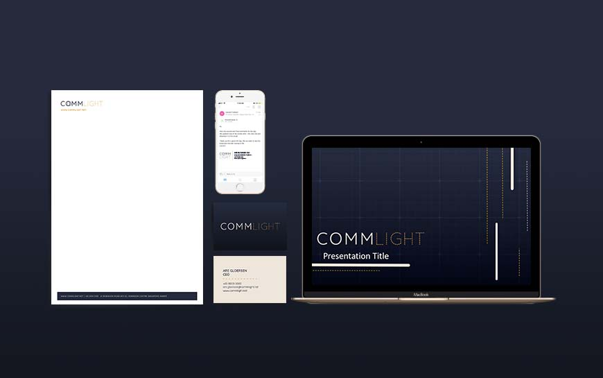 Commlight Branding Collaterals