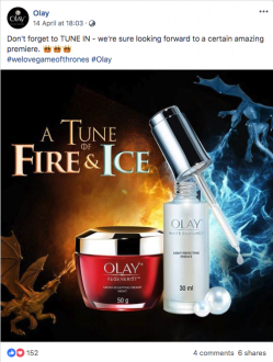 Olay A Tune Of Fire And Ice