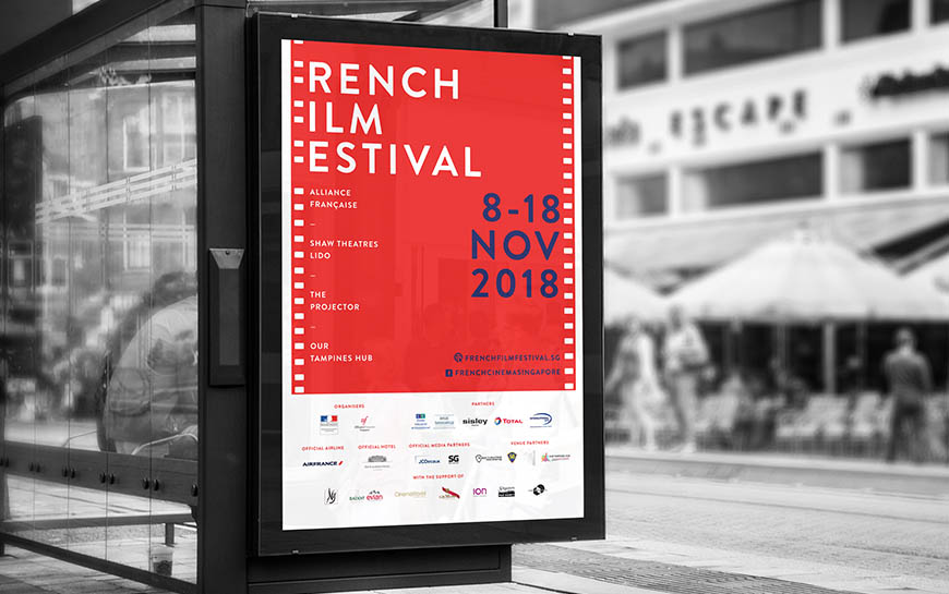 French Film Festival 2018 Singapore Bus Stop Ad