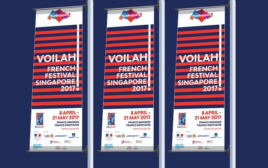 Voilah Singapore Festival 2017 Banners