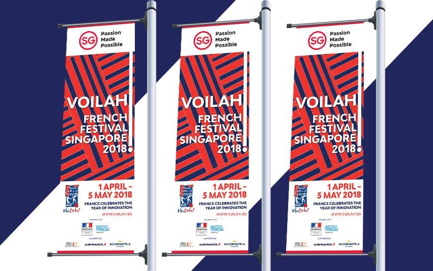 Singapore Voilah Festival Banners