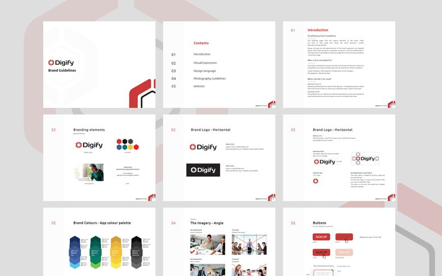 Digify document security branding and website