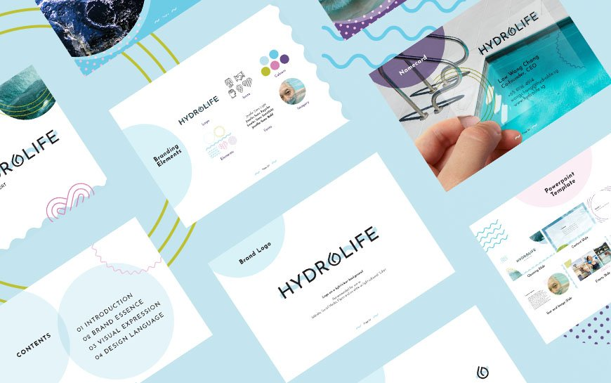 Hydrolife elderly physiotherapy branding