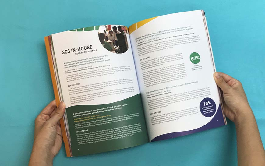 Singapore Cancer Society Annual Report Design