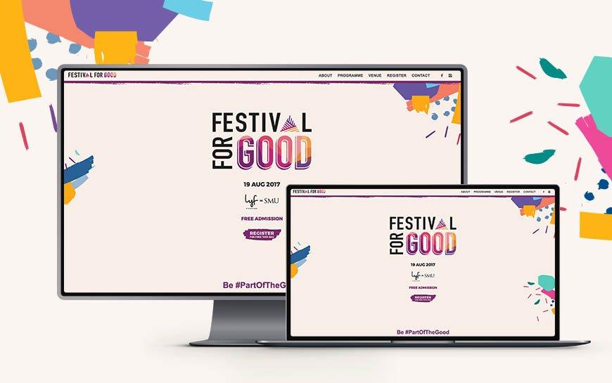 Festival For Good 2017 branding and website