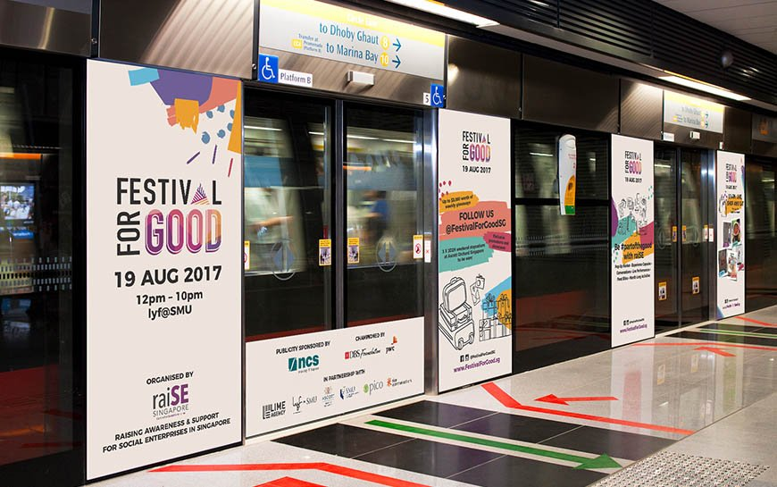 Festival For Good 2017 branding and mrt