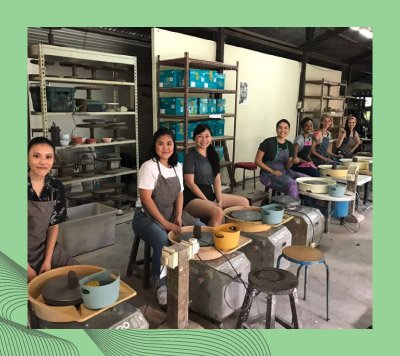 center pottery and lime agency team building workshop