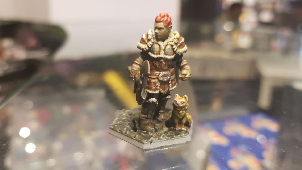 a mini figurine used in Dungeons & Dragons