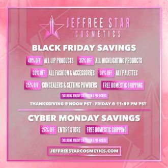 Jeffree star Black Friday
