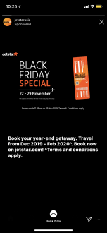 Jetstar black friday