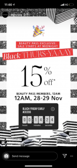 Sephora Singapore Black Friday