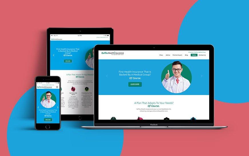 Raffles Health Insurance website design