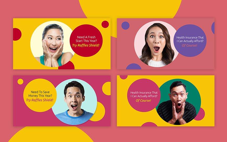 Raffles Health Insurance social media design
