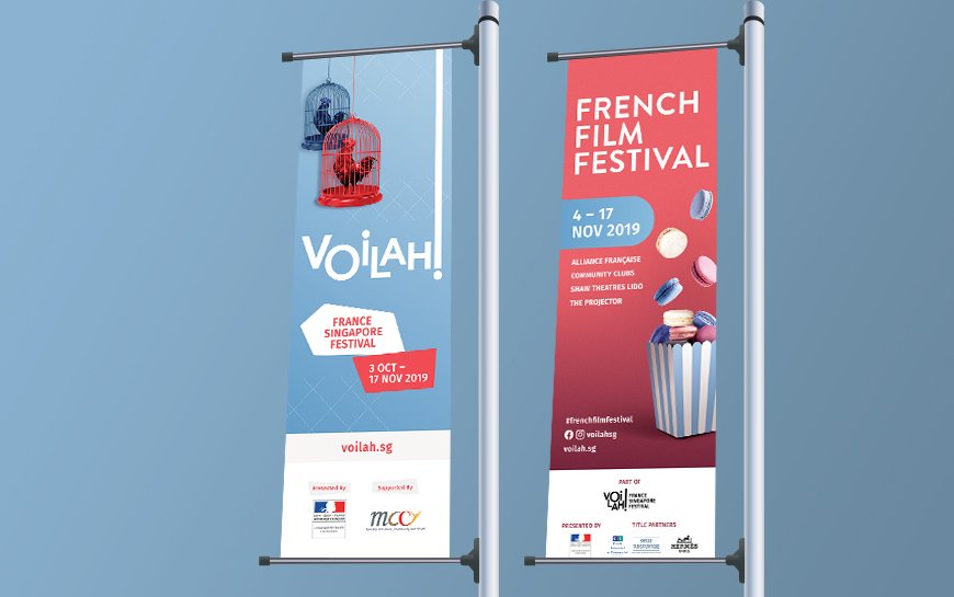 Voilah and French Film Festival Street Banner