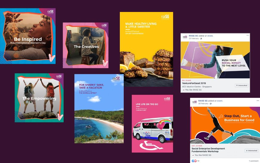 raise singapore branding and social media