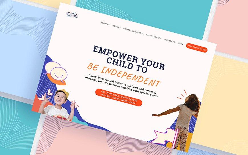 Ark Centre Homepage Design
