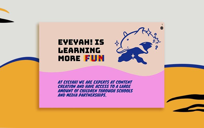 Eyeyah Sponsorship Deck Design
