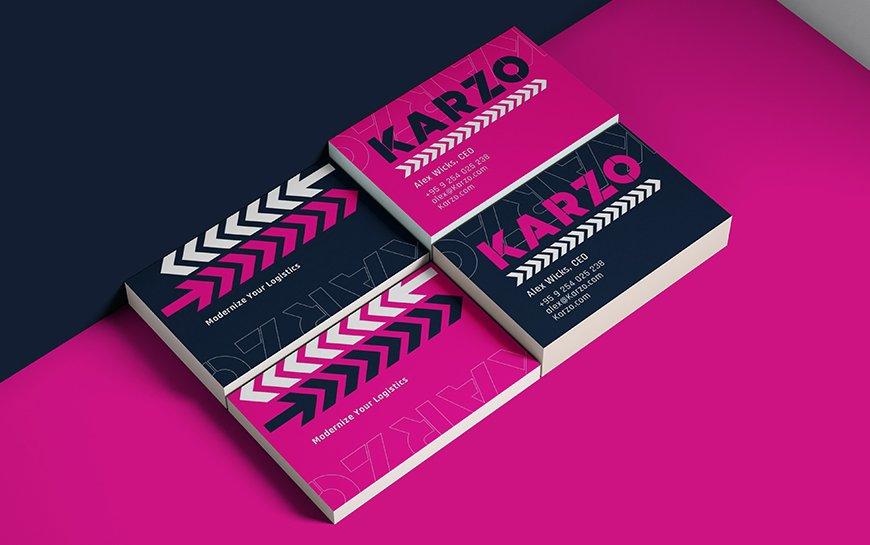 Karzo logistics trucking branding namecard