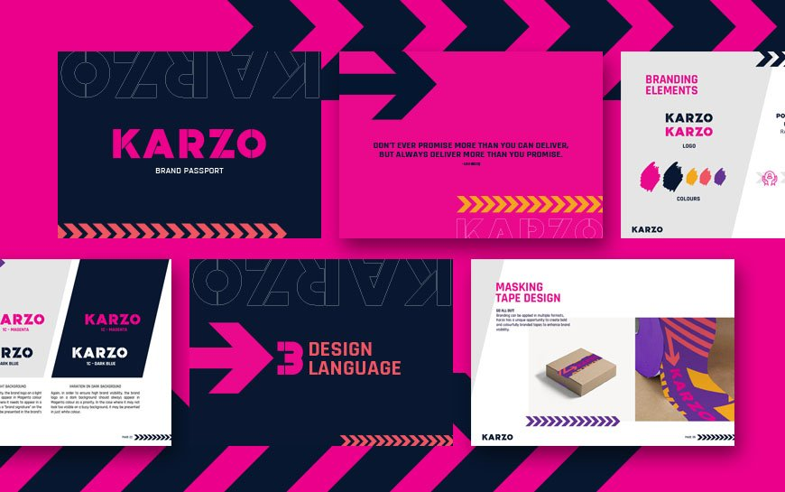 Karzo logistics trucking branding