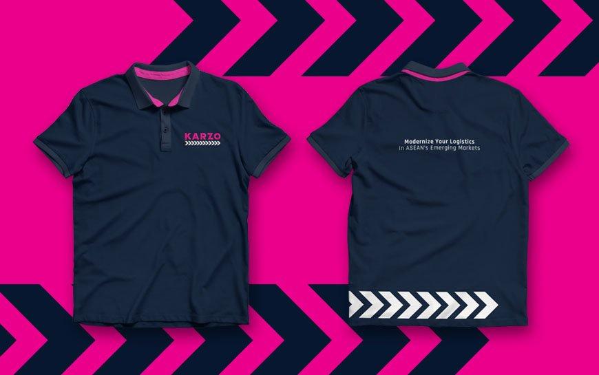 Karzo logistics trucking branding tshirt