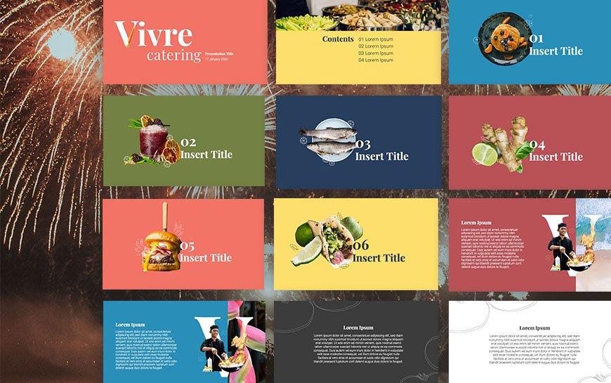 Vivre Group Powerpoint Template Design